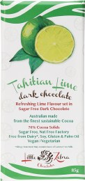 Tahitian Lime Dark Chocolate 85gm