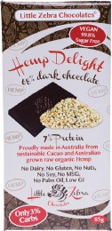 Hemp Delight 68% Dark Chocolate Dark 85gm