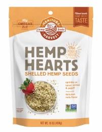 Hemp Hearts - Shelled Hemp Seeds Natural 454gm
