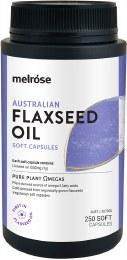 Flaxseed Organic (1000mg) 250 Capsules