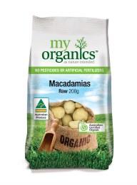 Organic Raw Macadamia Nuts 200gm