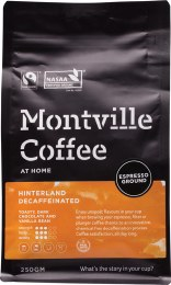 Decaf Coffee Ground (Espresso) Hinterland Blend 250gm