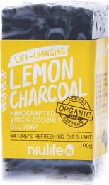 Coconut Oil Soap Lemon - Charcoal