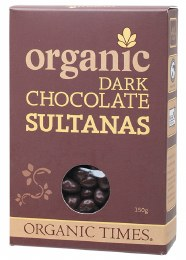 Chocolate Sultanas Dark Chocolate 150gm