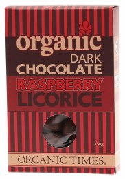 Raspberry Licorice Dark Chocolate 150gm
