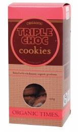 Cookies (Organic) Triple Choc Chip 150gm