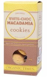 Cookies (Organic) White Choc Macadamia 150gm
