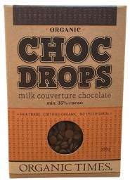 Choc Drops Milk Chocolate Couverture Drops 200gm