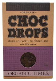 Choc Drops Dark Chocolate Couverture Drops 200gm