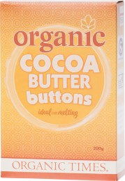 Cocoa Butter Buttons 200gm
