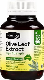 Olive Leaf Extract Capsules (Medi Olive 66) 60 Caps