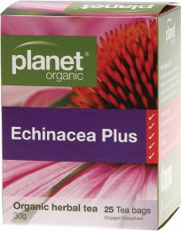 Herbal Tea Bags Echinacea Plus 25 Bags