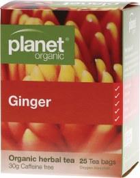 Herbal Tea Bags Ginger 25 Bags