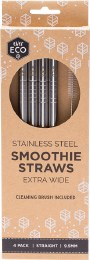 Stainless Steel Straws- Straight Smoothie Straws (Extra Wide)