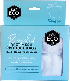 Reusable Produce Bags 8 Pack + Storage Pouch 8
