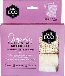 Reusable Produce Bags Organic Cotton Mixed Set