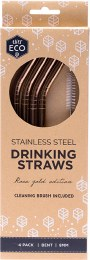 Stainless Steel Straws - Bent Rose Gold Edition 4