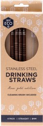 Stainless Steel Straws - Straight Rose Gold Edition 4