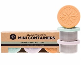 Stainless Steel Mini Containers Spring Pastels - Leak Resistant