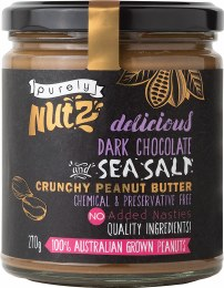 Peanut Butter Crunchy - Chocolate and Sea Salt 270gm