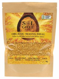 Organic Moong Dhal Yellow Lentil Dhal Mix 400gm