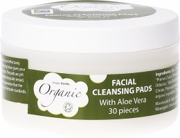 Facial Cleansing Pads With Organic Aloe Vera 30 Pads