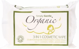 3 in 1 Cosmetic Wipe Cleanses, Tones, Moisturises 25 Wipes