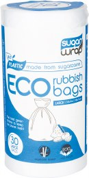 Eco Rubbish Bags Made from Sugarcane - Large 35L x30