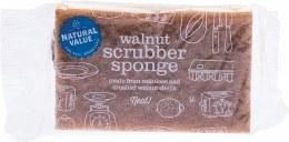 Walnut Scrubber Sponge