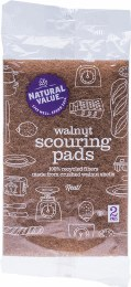 Walnut Scouring Pads 2 Pack