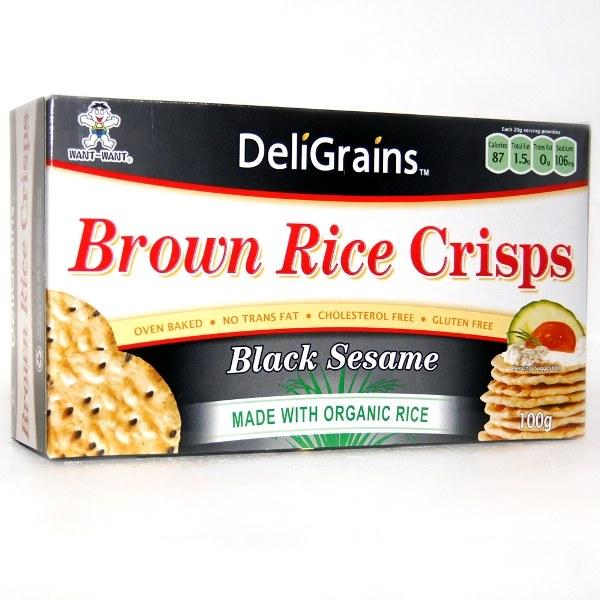 Rice Crisp Black Sesame 100g