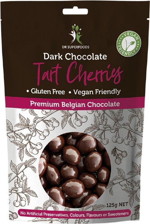 Cherry Bombs Dark Chocolate Tart Cherries 125G