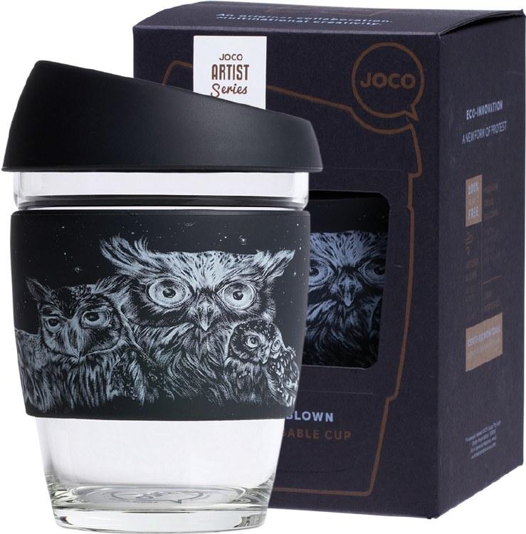 Reusable Glass Cup Artist Series 12oz  - Jen Lobo