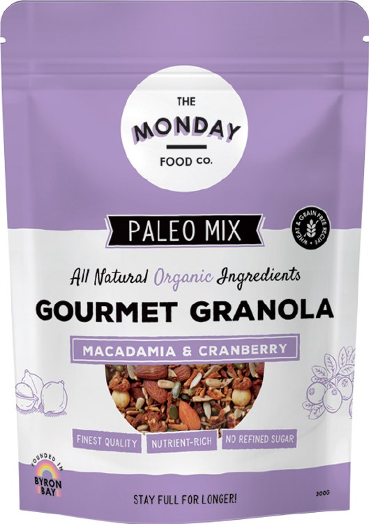 Paleo Granola Macadamia & Cranberry 300G