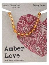 Children's Bracelet/Anklet Baltic Amber - Honey Love 14cm