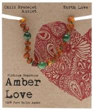 Children's Bracelet/Anklet Baltic Amber - Earth Love 14cm