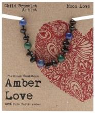 Children's Bracelet/Anklet Baltic Amber - Moon Love 14cm