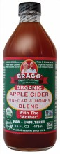 Apple Cider Vinegar & Honey Unpasteurised & Unfiltered 473ml
