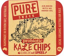 Pure - Kale Chips Garlic And Spices 45G