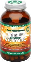 Organic Green Vitamin C Capsules (600Mg) - Amber Glass