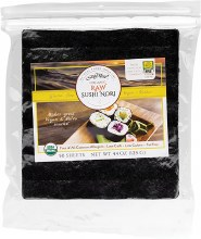 Sushi Nori Organic Raw (50 Sheets) 125g