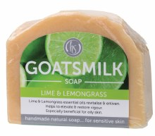 Goat's Milk Soap Lime & Lemongrass 140g
