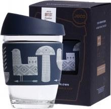 Reusable Glass Cup Artist Series 12oz  - Adrian Knott
