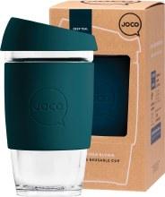 Reusable Glass Cup Large 16oz - Deep Teal