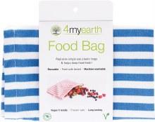 Food Bag Denim Stripe - 25x20cm