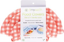 Food Cover Set Red Gingham -  XS,S,M & L
