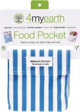 Food Pocket Denim Stripe - 14x14cm