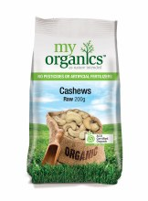 My Organics Raw Cashews 200G
