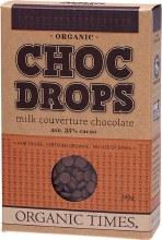 Choc Drops Milk Chocolate Couvertre Drops 200g
