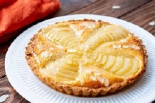 Pear & Almond Organic Short Bread Tart Round